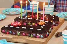 Langpannekake med sjokoladekrem 5 år