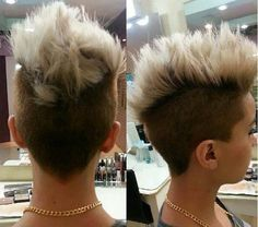 short spiky mohawk hairstyle for women