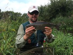 A handsome dark bodied #grayling caught from a small dorset chalk stream carrier