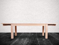 Natural Vario Solid Beechwood Extendable Dining Table by TON