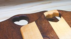 Simple Cutting Boards from Birch and Dark Hardwood