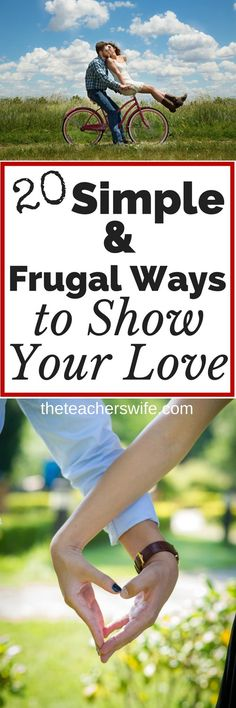 Expressing love to your spouse doesn't have to be expensive or extravagant. I'm sharing 20 simple & frugal ways to show your love to that special person in your life (all the days of the year) because nurturing your marriage is too important to let money get in the way!