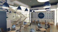 CafeBagner_브랜딩&투시도 - IM100 인테리어,브랜딩,#투시도#카페#브랜딩#branding#cafe#branddesign,interior3d, Conference Room, Table, Branding, Furniture, Design, Home Decor, Brand Management, Decoration Home, Room Decor