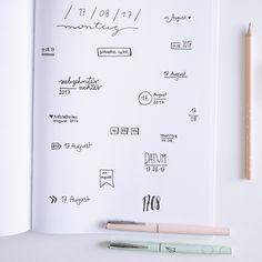 Tipps für eine kreative Heftgestaltung - Das Datum  writing lettering design Gestaltung