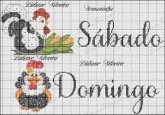 Chicken Cross Stitch, Chicken Crafts, Cross Stitch Kitchen, Easter Cross, Down On The Farm, Coq, Farm Animals, Cross Stitching, Fabric Flowers