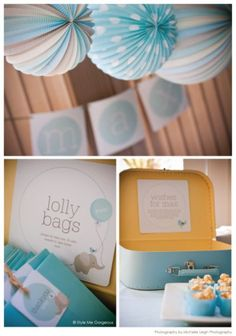 Love the colors - Maybe Gray, Teal & Yellow! Baby Shower Ideas For Boys — Unique Favors Ideas