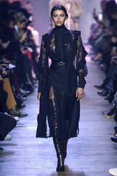 See all the looks from the show. Fashion 2017, Fashion News, Runway Fashion, Fashion Art, Boho Fashion, High Fashion, Ellie Saab Gowns, Paris 11, Elie Saab
