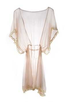 Ell & Cee Sorbet Pom Pom Silk Robe, £95: Perfect summer lounging, the Pom Pom robe is back due to popular demand. Such an easy throw on piece over a bikini for beach or simply a chic cover up for indoors. Made from silk chiffon in the delicious Sorbet shade and trimmed with tiny felt pom poms.
