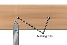 Cut marking lines Turning Tools, Wood Turning Projects, Wood Turning Chisels, Beading Tools, Woodworking Techniques, Cool Tools, Wood Work, Simple Designs, Wood Signs
