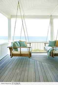 If this could be your living room, that would be amazing. Can you put swinging couches in your living room?