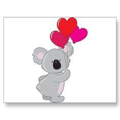 koala + heart balloons