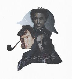 Robert Downey Jr., Benedict Cumberbatch, & Johnny Lee Miller, the three great Sherlock Holmeses of our era