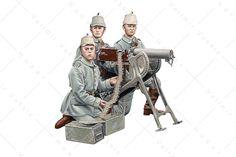 1914 Escuadra de ametralladoras MG-08