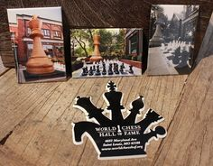 Fun & decorative World Chess Hall of Fame magnets at Q Boutique!