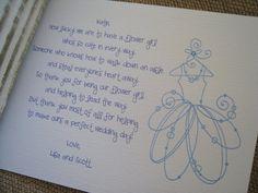 flower girl note
