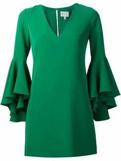 A fashion look from October 2016 featuring green dress, leather shoes and man bag. Browse and shop related looks. Ruffle Sleeve Dress, Mini Dress With Sleeves, Casual Dresses, Fashion Dresses, Summer Dresses, Designer Cocktail Dress, African Dress, Classy Outfits, Green Dress
