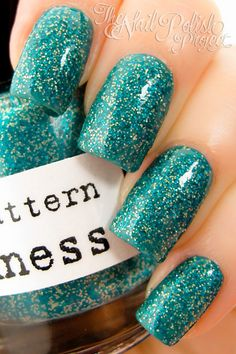 Nail Pattern Boldness  Don;t Drop That Spoon Nail Polish  #nails #nailpolish #indie #polish #manicure #lacquer #trends #beauty  #handmade #glitter