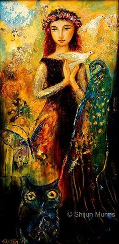 """Peace"" oil on canvas 12x24 2011 (sold) © Shijun Munns:"