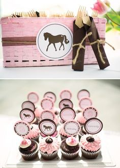 pink and brown pony party