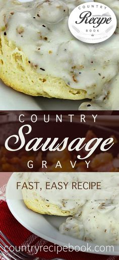 Perfect with biscuits for breakfast, this sausage gravy recipe brings country style cooking to your home.