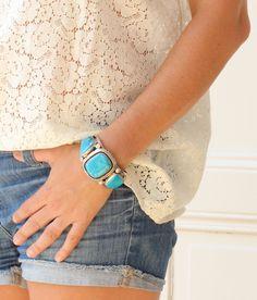 Bracelet 3 Turquoises Harpo sur www.lestrouvaillesdelsa.fr