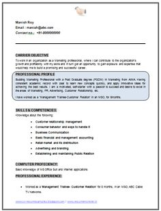 International Resume Format Free Download  Resume Format  Cv
