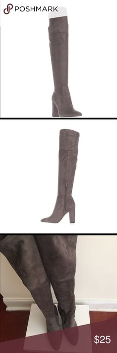 Ivanka Trump faux suede over the knee boots Ivanka trump faux suede over the knee boots, heel measures 3.5 inches Ivanka Trump Shoes Over the Knee Boots