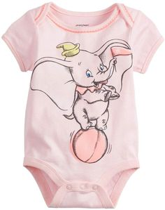07ea0790 Disneyjumping Beans Disney's Dumbo Baby Girl Picot-Trim Bodysuit by Jumping  Beans