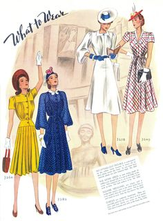 McCall 3264, 3282, 3258 and 3249 in McCall's magazine, June 1939