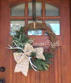 A personal favorite from my Etsy shop https://www.etsy.com/listing/476603452/grapvine-wreath-winter-wreath-holiday