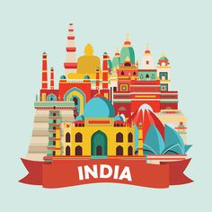 A series of travel illustrations. All images is vector illustrations.