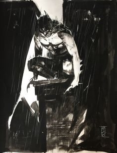 Batman (in the rain) by Alex Maleev