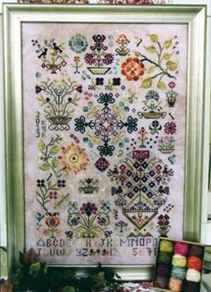 Beautiful #cross-stitch #sampler! Summer Quakers is a design in the Quaker Seasons collection by Rosewood Manor.