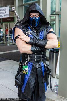 Sub-Zero cosplay by Danquish | Emerald City Comicon 2015