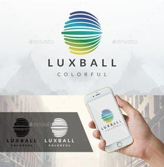 Lux Ball Logo: Abstract Logo Design Template created by BossTwinsArt. Best Logo Design, Branding Design, Graphic Design, Logo Design Template, Logo Templates, Logos Photography, Logos Vintage, Logos Ideas, Waves Logo