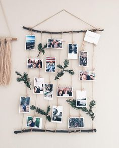 Loving the rustic vibe of this DIY photo display. How cute are the wood and branches and twine? So easy and affordable with a set of Mighty Prints. Photo by: Victoria Bigelow @aviella_creates