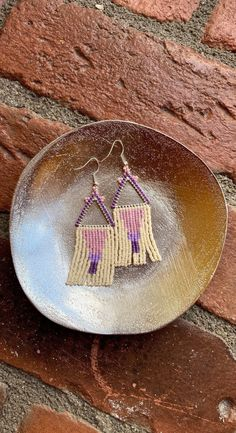 Chubbeadrings Grading Purple Dangle Beaded Earrings By Chubbeadrings by chubbybeadedearrings on Etsy Etsy Earrings, Beaded Earrings, Dangles, Purple, Vienna, Handmade, Accessories, Clothes, Ear Rings