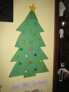 Christmas Tree Countdown (Photo from This Reading Mama)
