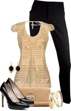 """""""Gold Geometric"""" by tishaod on Polyvore"""