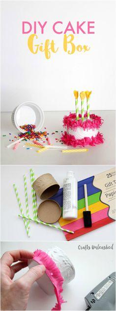 DIY Paper Mache Cake Gift Box