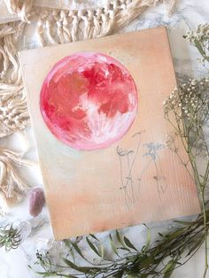 Pieces are selling fast for the studio clearance sale! Dont miss out on your favorite if youve had your eye on something! All original art is off - no code necessary Moon Nursery, Nursery Art, Strawberry Moons, Original Paintings, Original Art, Moon Painting, Pink Moon, Moon Goddess, Moon Art