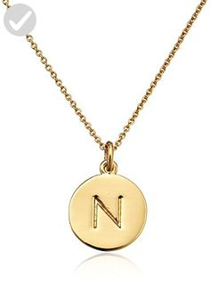 "kate spade new york ""Kate Spade Pendants"" ""N"" Pendant Necklace, 18"" - All about women (*Amazon Partner-Link)"
