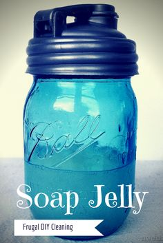Super easy and frugal home care tip: turn left over bits of bar soap into soap jelly.