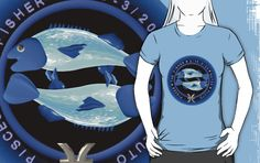 Pisces zodiac astrology by Valxart  is available on many styles & colors on shirts, hoodies and Waterproof vinyl stickers that will last 18 months outdoors. Click to see this on http://www.redbubble.com/people/valxart  or  See more zodiac astrology art by Valxart.com at http://zazzle.com/valxart*