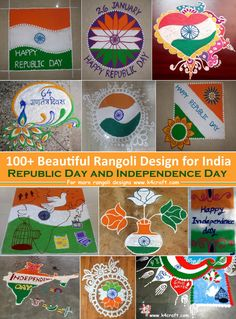 Beautiful Rangoli Design for India Independence Day and Republic Day - Craft
