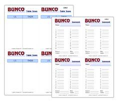 Free Bunco Printables