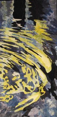 Reflections, Venice, var. 19- Barbara Schneider art quilt