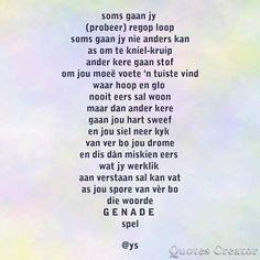 Afrikaans Quotes, Kos, Positivity, Motivation, Sayings, Board, Lyrics, Aries, Planks
