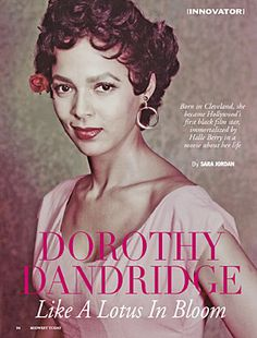 Dorothy Dandridge was a black actress who experienced great success. Racists of the time actually drained a pool she had a photo opportunity at because she had put her hand in the water. Dorothy Dandridge, Black Actresses, Black Actors, Old Hollywood Glamour, Classic Hollywood, Vintage Hollywood, Marilyn Monroe, Ebony Magazine Cover, Vintage Black Glamour