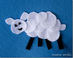 Felt shape sheep - easy to make and fun for spring, Easter, or celebrating Chinese New Year!